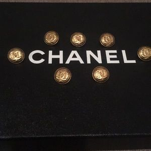 Chanel buttons set of 7